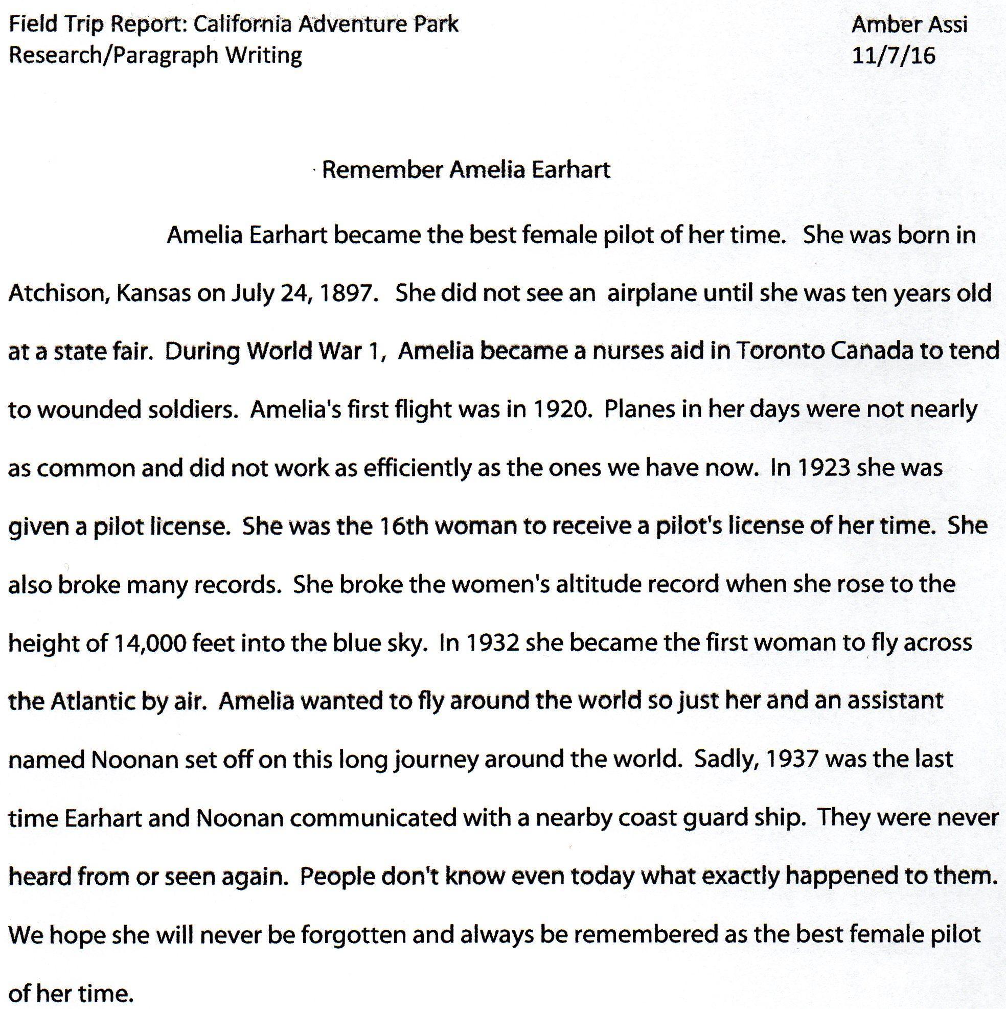 adventure paragraph writing